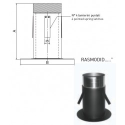 Raccordo a soffitto telescopico modificato