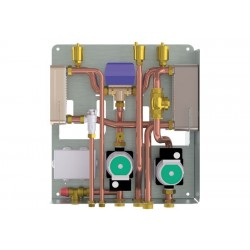 kit B termocamino abbinato a caldaia a gas, con sanitario