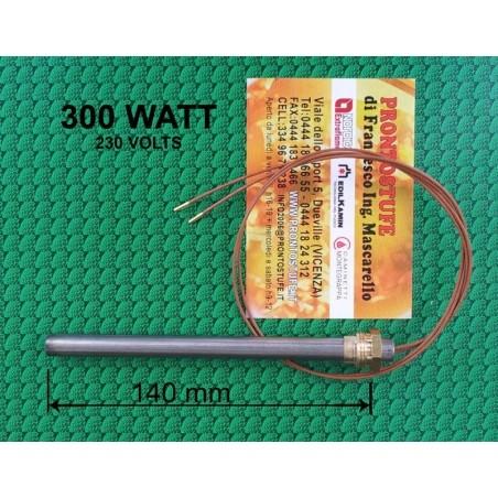 Candeletta accensione stufa pellet  filetto3/8 L140mm 300W Adler,Kalor,Xiang