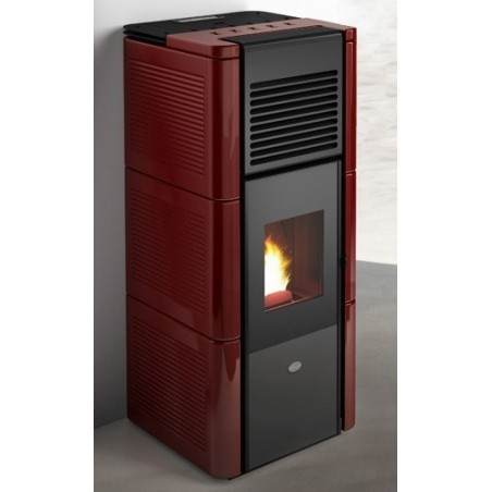 Zoe stufa pellet maiolica eva calor 15 kw for Stufe pirolitiche