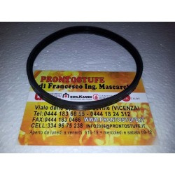 100x9,5mm Guarnizione Siliconica Nera d100 per tubo inox