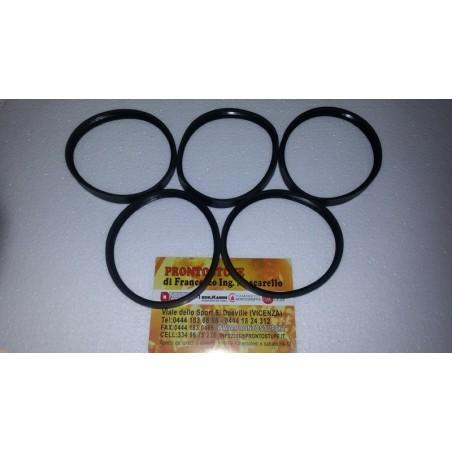 Kit 5 pezzi 80x12mm Guarnizione Siliconica Nera d80 per tubo nero