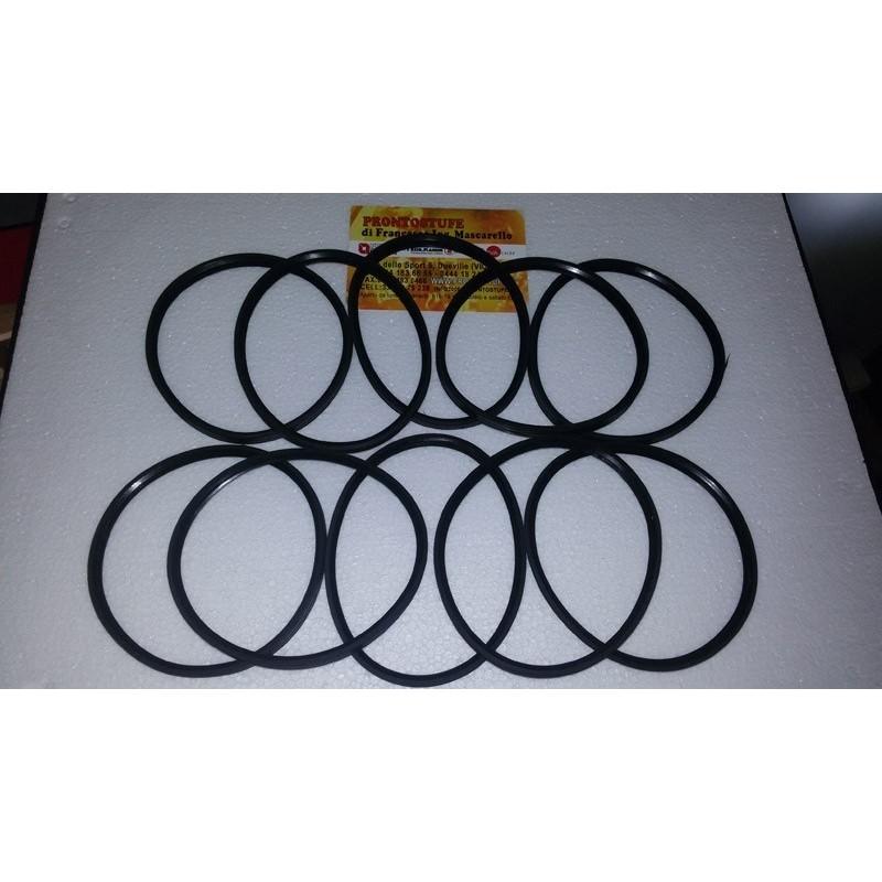 Kit 10 pezzi 100x9,5mm Guarnizione Siliconica Nera d100 per tubo inox