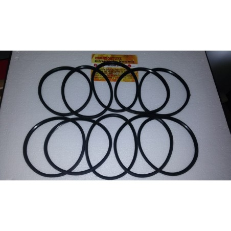 10 Pieces Kit 100x9,5mm Black Silicone Gasket d100 for inox tube