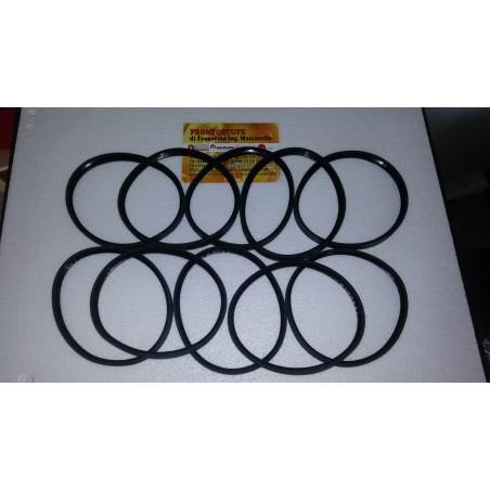 Kit 10 pezzi 100x12mm Guarnizione Siliconica Nera d100 per tubo nero