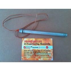 Candeletta accensione stufa pellet D12.5 x L150 mm con flangia