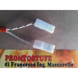Candeletta accensione stufa pellet D12.5 x lung.162 mm con flangia