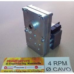 Motoriduttore BCZ 4RPM Albero Cavo per Stufe a Pellet / Idro / Termocamini