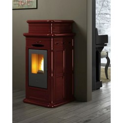 Erminy stufa pellet maiolica eva calor 9 kw for Stufe pirolitiche