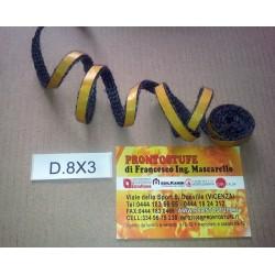Guarnizione Adesiva Morbida in Fili di Vetro Nera D.8x3mm Originale Montegrappa
