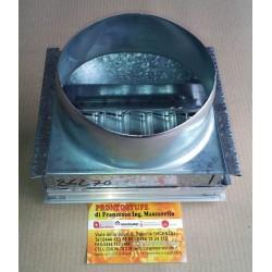 Bocchetta 18x9cm Mandata Aria Calda Imbocco D14cm con Serranda Regolabile Alluminio Edilkamin 86270
