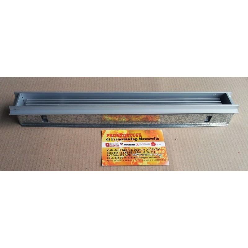 Griglia 36x3cm Ricircolo Aria Interna per Ripresa Aria su Controcappa Alluminio Edilkamin 54230