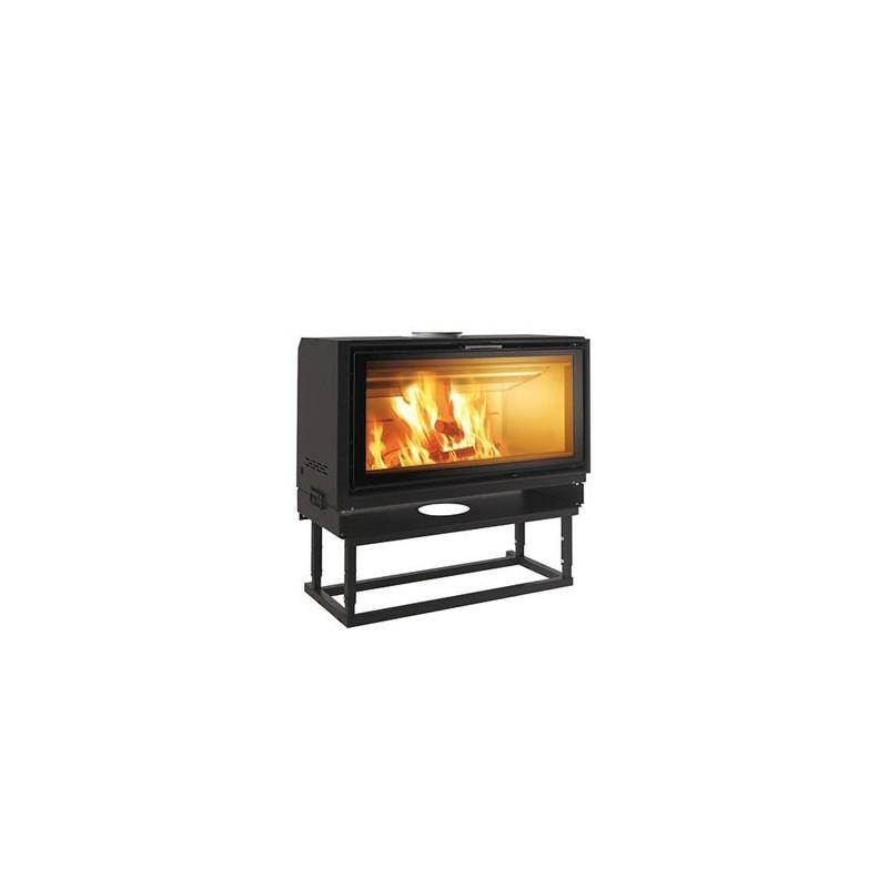 Wood insert/ fireplace Screen 100 Up, 14,5 KW Edilkamin