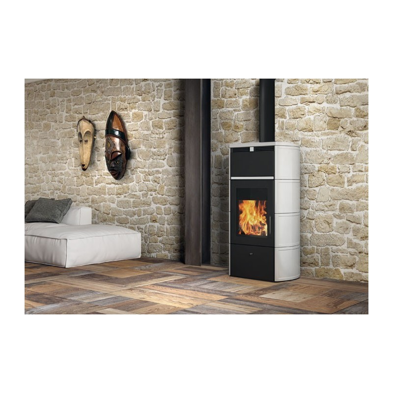 Flamma Vase Open thermo Wood ceramic Edilkamin 23.6 kW