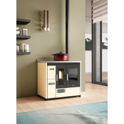 Rita stove pellets Painted Steel Eva Calor 9 KW