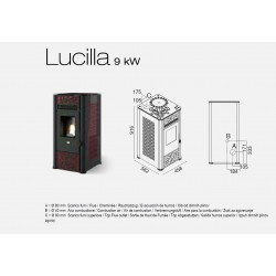 Lucilla Stufa a Pellet 9KW Eva calor
