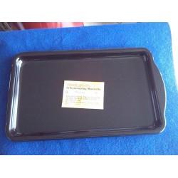 BLACK ENAMELLED PAN 39x22 cm Cucina Economica Rosetta Rosa Reverse Rosetta Maiolica La Nordica