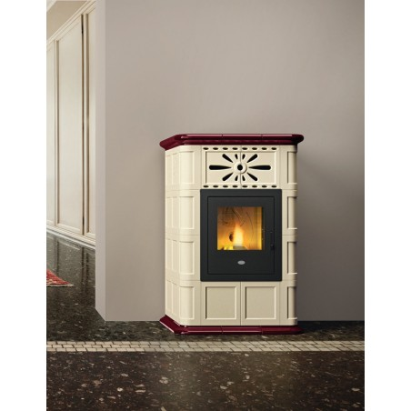 Maria stufa pellet maiolica eva calor 13kw for Stufe pirolitiche