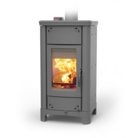 Ardhea Easy Thermo wood stove in steel grey 23 kw Thermorossi