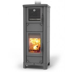Ardhea F Easy Thermo wood stove in steel grey 23 kw Thermorossi