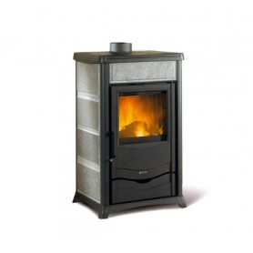 Termorossella Plus Evo DSA thermo wood stove in natural stone 12,8 kw la nordica