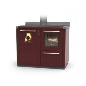 Bosky with oven 30 wood thermocooker stove 21,4 kw Thermorossi