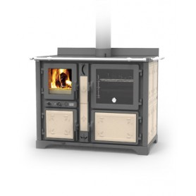 Bosky country F30 flowers wood thermocooker stove 21,4 kw Thermorossi