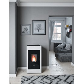 Barbara pellet stove in natural stone 11,5 kw eva calor