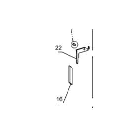 7129352 maniglia nera per stufa candy + 1131008 perno M8 zincato nero + 7122263 impugnatura bachelite