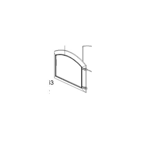 1135552 porta focolare nera