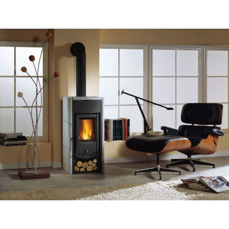 Asia BII wood stove in natural stone 6 Kw la nordica Extraflame
