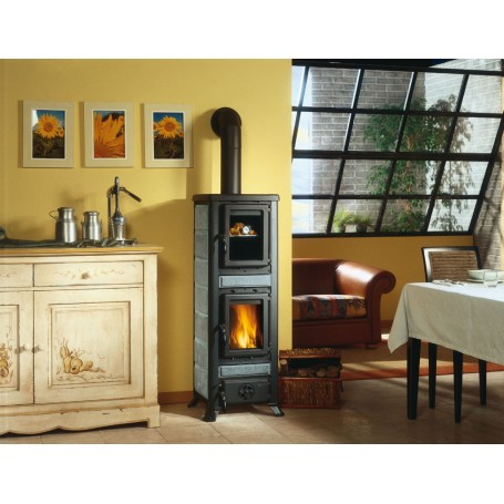 Fulvia with oven wood stove 6 Kw La Nordica Extraflame