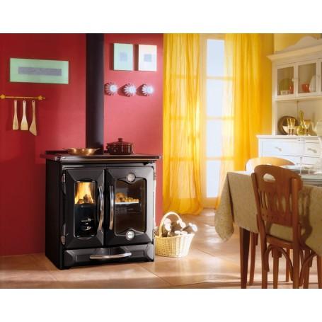 Mamy wood burning kitchen black 8,7 kw la Nordica Extraflame