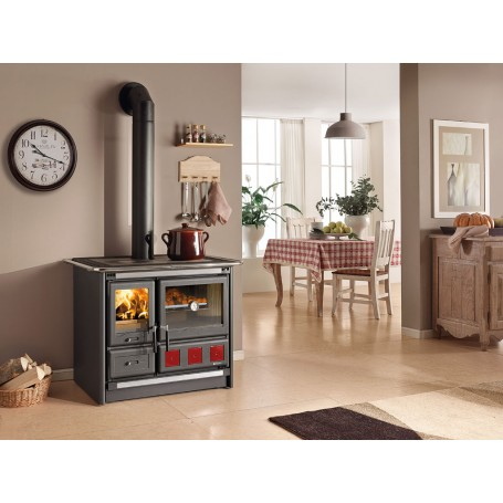 Rosa XXL Wood burning cookers in painted steel 8,5 kw la Nordica Extraflame