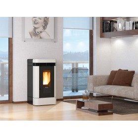 copy of Lucia Plus pellet stove in majolica 12 kw la nordica extraflame