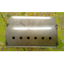 Rectangular stainless steelbrazier for 13 kW and 15 kW fireplace inserts