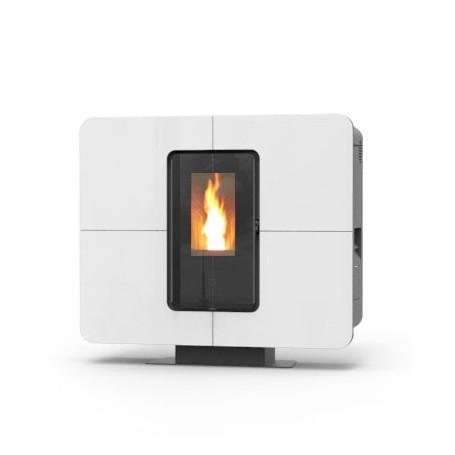 Slimquadro cristallo pellet stove 11 kw Thermorossi