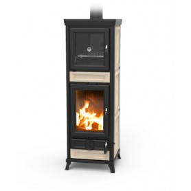 copy of Anna wood stove with oven in majolica 9,1 Kw thermorossi