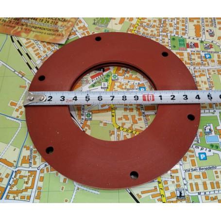 Guarnizione siliconica inserti rossa diametro 140 mm spessore 9 mm