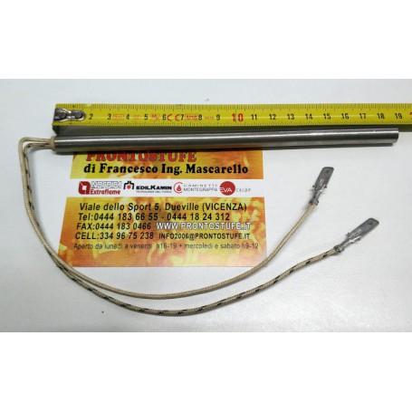Candeletta D9,5 L186 mm 250W con faston maschio compatibile codice Thermorossi 60011437