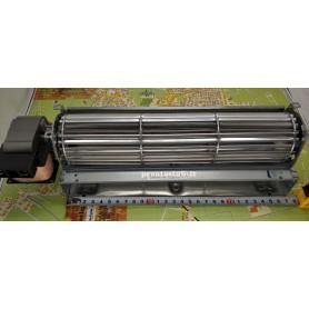 270 x 40 mm ventilatore tangenziale, rullo d60 mm, motore 30 mm sinistro