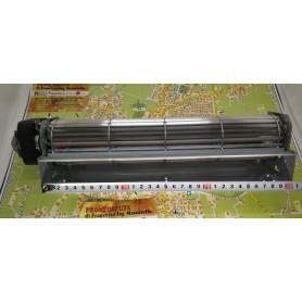 300 x 40 mm ventilatore tangenziale, rullo d60 mm, motore 20 mm sinistro a180