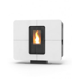 Offer only italy Slimquadro cristallo pellet stove 11 kw Thermorossi