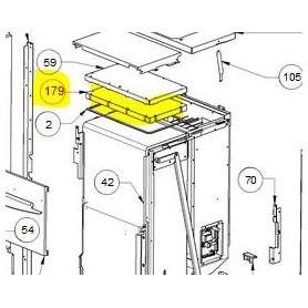 007203017 refrettario on top caldaia pellet LP 14 Extraflame