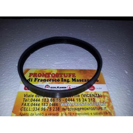 100x12mm Guarnizione Siliconica Nera d100 per tubo nero