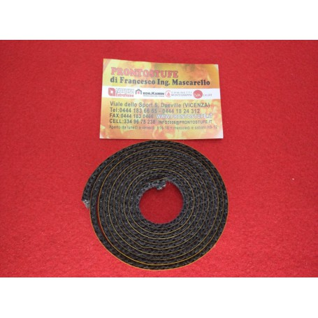 10X3 mm Flat Black Braid, glass thread seal