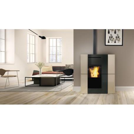 Blade H18 EKleaner Thermo stove in Ceramic 18,7 KW Edilkamin