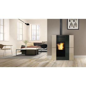 Blade H18 EKleaner Thermo stove in Painted Steel 18,7 KW Edilkamin