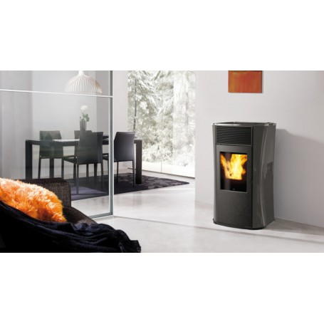 Mya Air Tight Pellet Stove a With Sealed Chamber In Glass 6,3 KW Edilkamin
