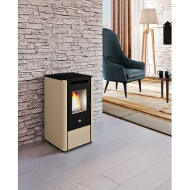 Kali Pellet Stove In Painted Steel 9,5 KW Eva Calor